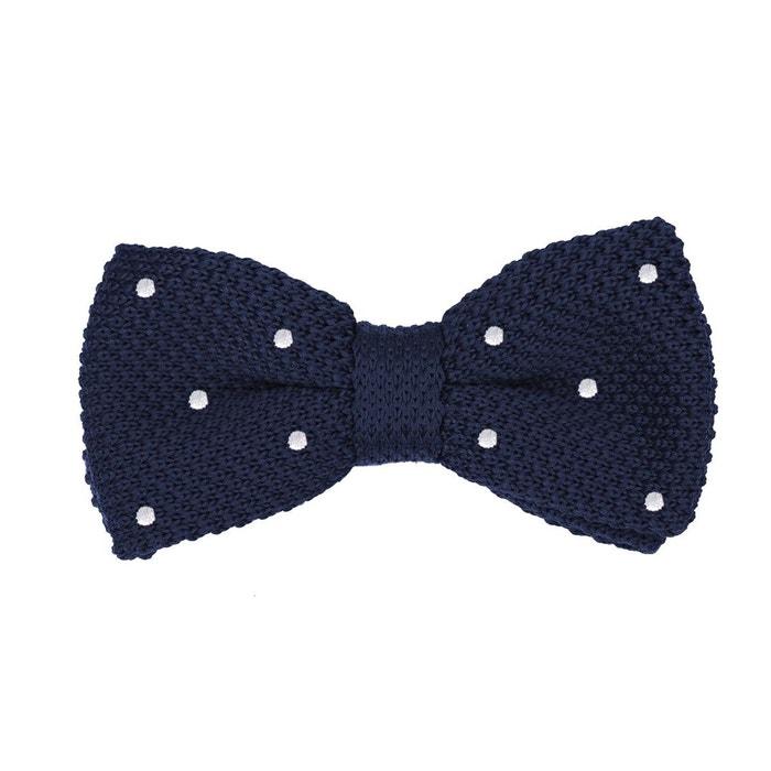 3f9d516cfc8ba Noeud papillon tricot bleu à pois blancs multicolore Dagobear | La Redoute