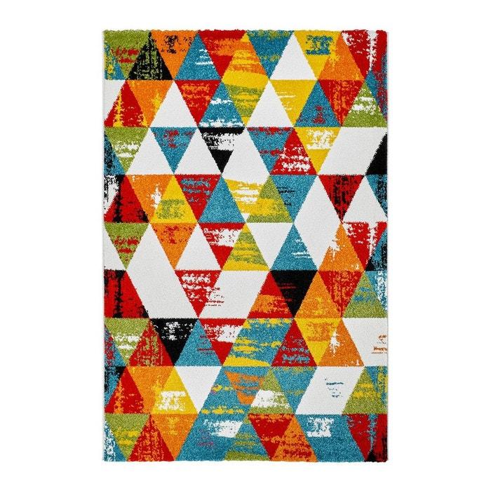 tapis multicolore design g om trique pour salon daiki multicolore deladeco la redoute. Black Bedroom Furniture Sets. Home Design Ideas
