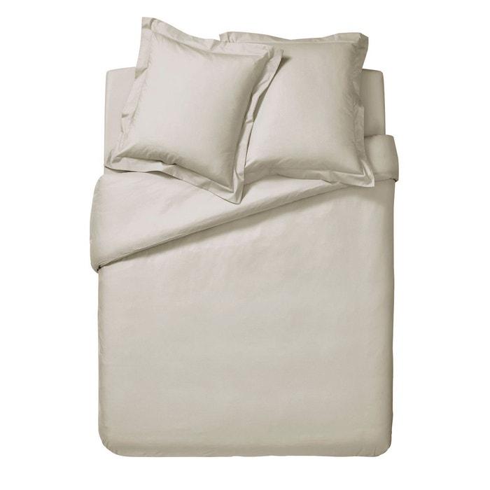 housse de couette unie en percale de coton s same s same essix la redoute. Black Bedroom Furniture Sets. Home Design Ideas
