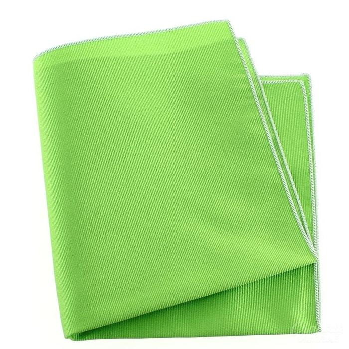 Pochette soie, vert cedro, ourlet blanc vert Tony Et Paul | La Redoute
