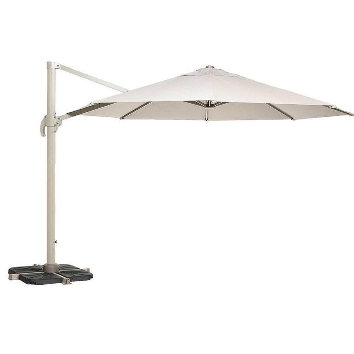 parasol d port rond fresno 3 50 m taupe couleur unique. Black Bedroom Furniture Sets. Home Design Ideas