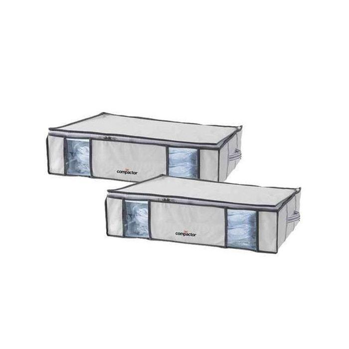lot de 2 compactor life l housses de rangement sous. Black Bedroom Furniture Sets. Home Design Ideas