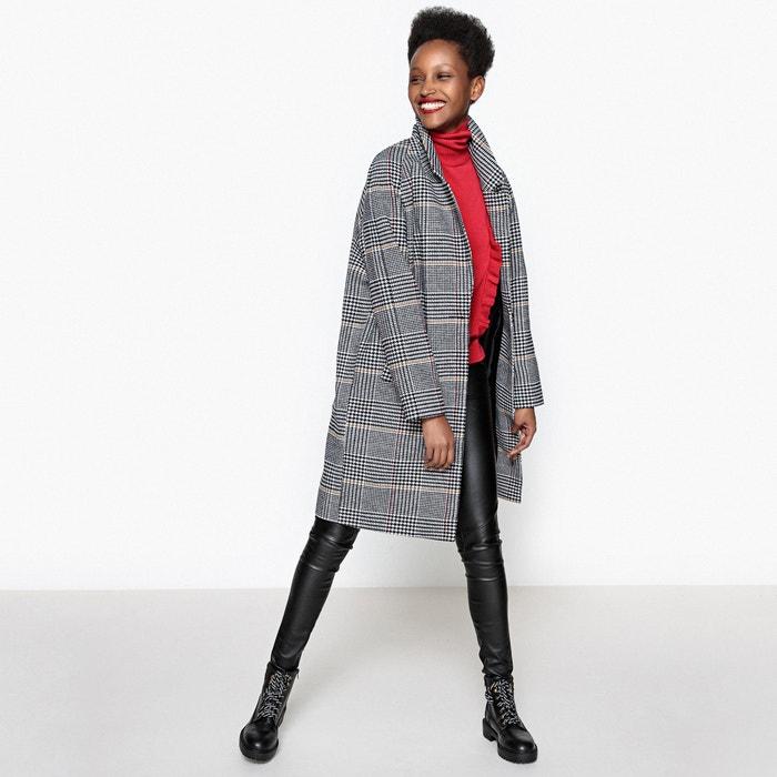 Image Checked Boyfriend Coat La Redoute Collections