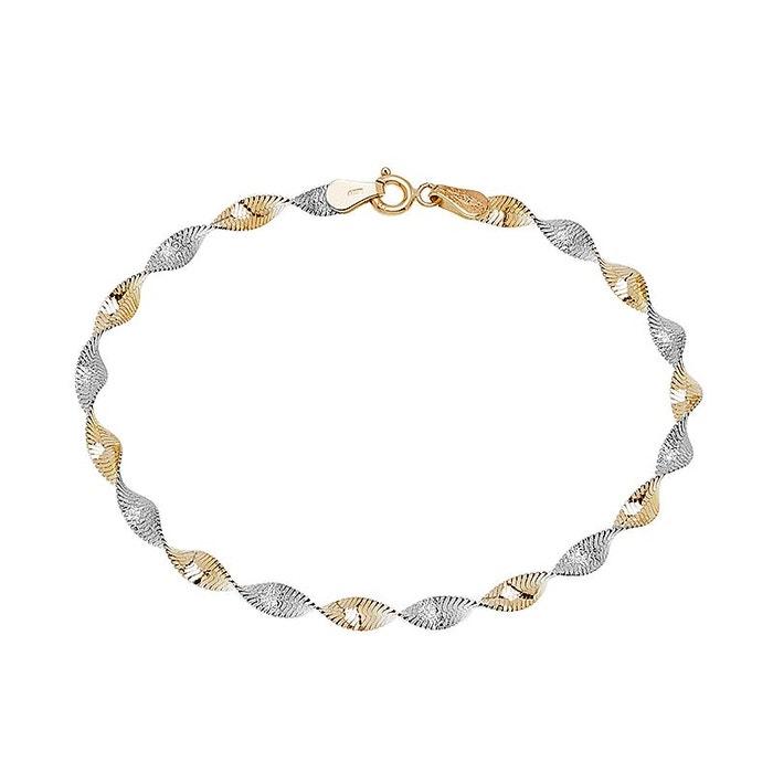 Bracelet or 375/1000 bicolore Cleor | La Redoute Sortie D'usine nYCdVDY