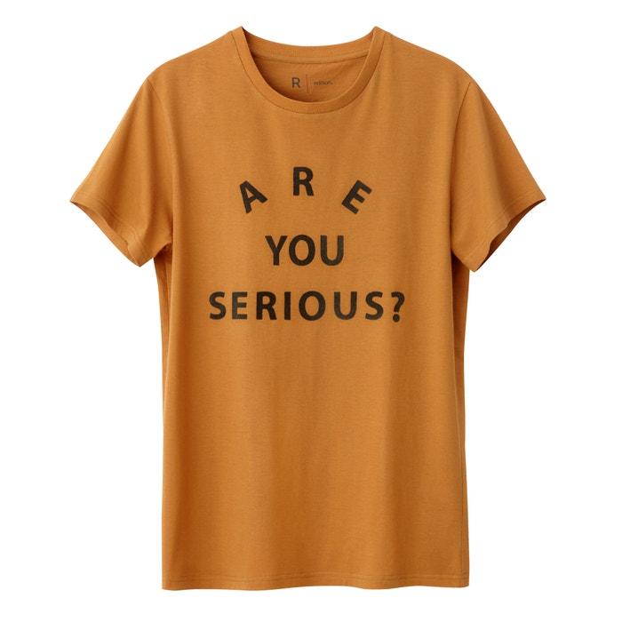 afbeelding Bedrukt T-shirt met ronde hals 100% katoen R édition