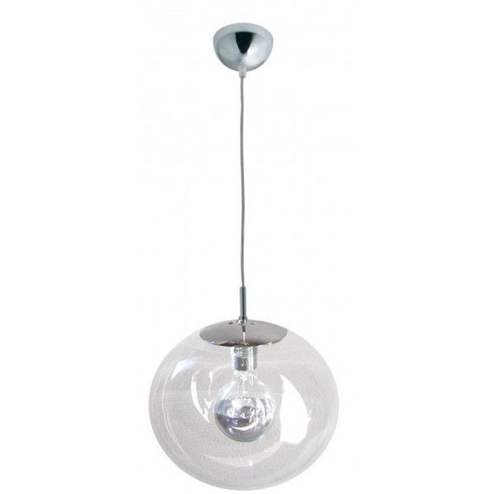 luxwomen lustre boule transparent transparent millumine la redoute. Black Bedroom Furniture Sets. Home Design Ideas