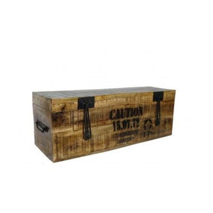 Grande malle de rangement en bois style industriel 39 flexo 39 moyen mo - Malle style industriel ...