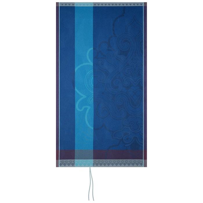 Drap De Plage Nid D Abeilles 100x200 Jaipur Lapis Lazuli Bleu Le