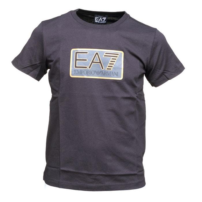 Tee shirt logotypé noir Emporio Armani Ea7   La Redoute 45d9b4d03a1