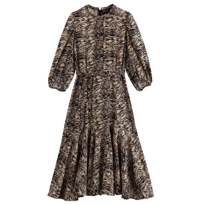 Robe Longue Imprime Leopard Soeur X La Redoute Collections La Redoute