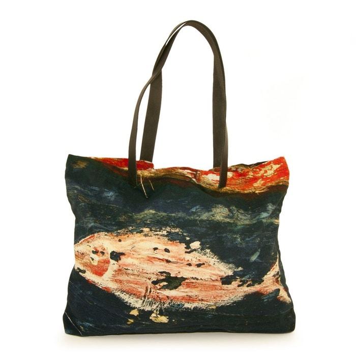Magasin De Sortie Rabais Sac shopping toile impression poisson multicolore C Jeu En Ligne Amazon hX0WZ9zB