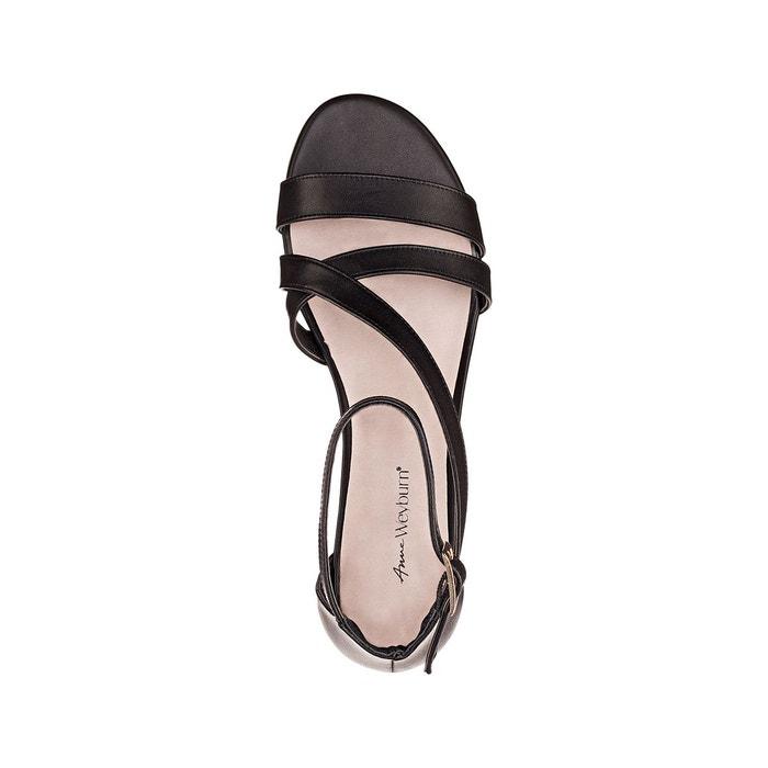 Sandales cuir à talons carrés Anne Weyburn