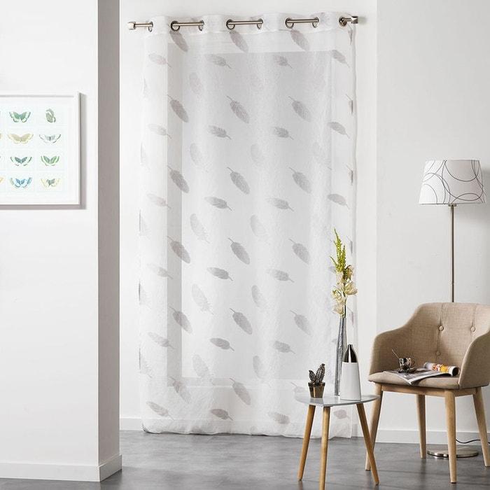 voilage sur fond sabl jacquard plume home maison la redoute. Black Bedroom Furniture Sets. Home Design Ideas