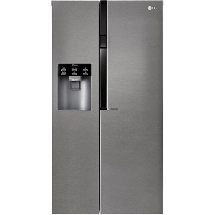 refrigerateur americain gsl360icez gris lg la redoute. Black Bedroom Furniture Sets. Home Design Ideas
