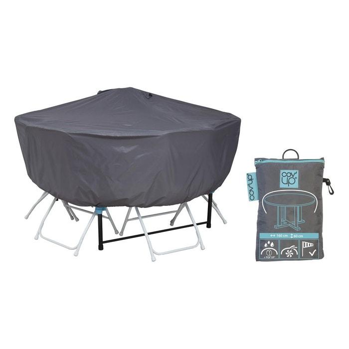 Housse de protection table ronde 160 cm gris Oviala | La Redoute