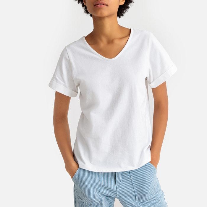 66e1a10b2 T-shirt em algodão bio, decote em v La Redoute Collections | La Redoute
