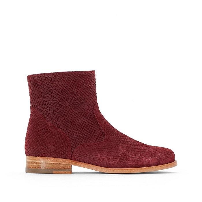 Boots cuir bordeaux Bensimon eastbay iA1TO7o