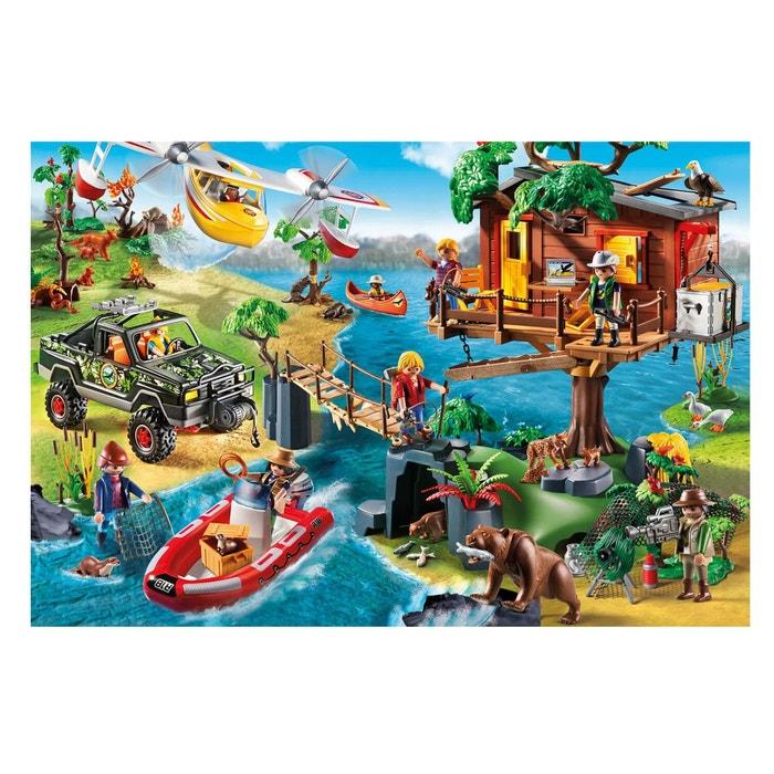Puzzle 150 pi ces playmobil cabane dans les arbres couleur unique playmob - La redoute playmobil ...