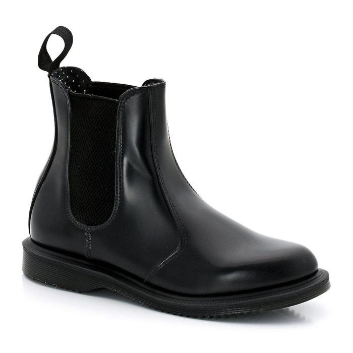 De Nombreux Types De Vente Prix Pas Cher France Boots cuir chelsea flora noir Dr Martens À Vendre Finishline 18f5dynQie