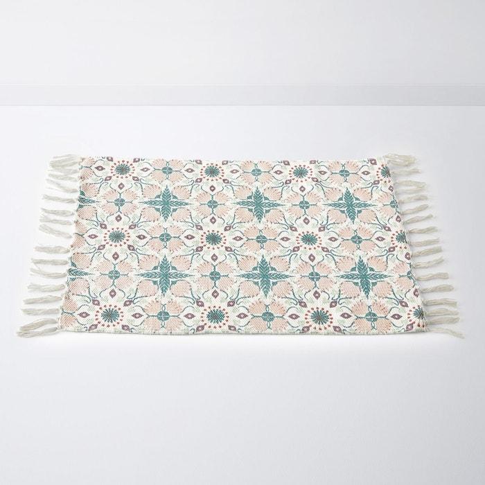 tapis de bain frang pur coton aconie imprim rose la. Black Bedroom Furniture Sets. Home Design Ideas