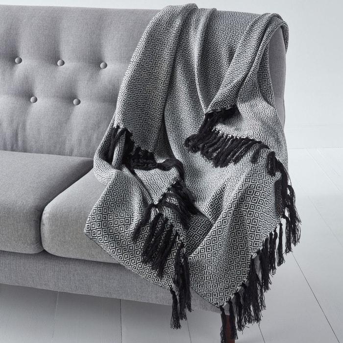 Plaid jacquard tricot, motifs ethniques, Ismir La Redoute Interieurs