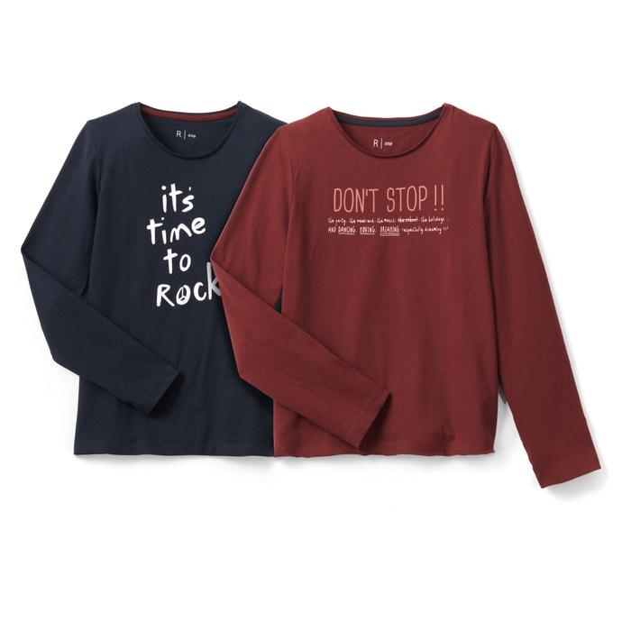 Conf. di T-shirt scollo rotondo fantasia  La Redoute Collections image 0