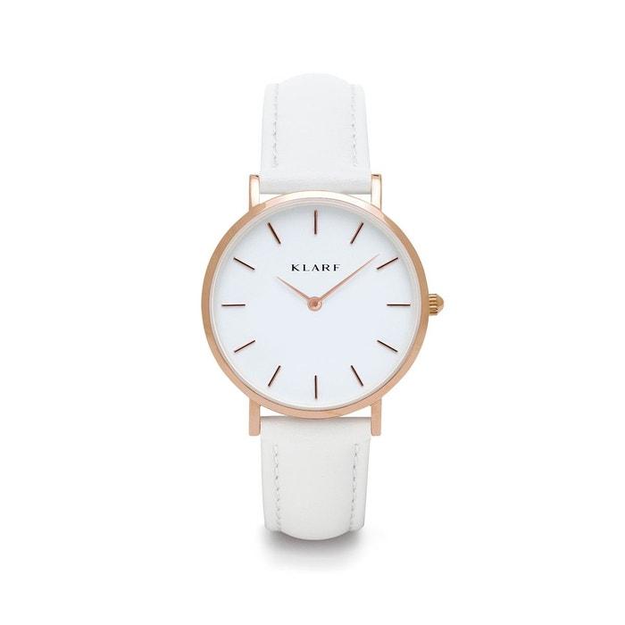 Pas Cher Livraison Gratuite Montre bracelet en cuir petite blanc Klarf | La Redoute Drop Shipping Jeu À Vendre Choix De La Vente fcD4r