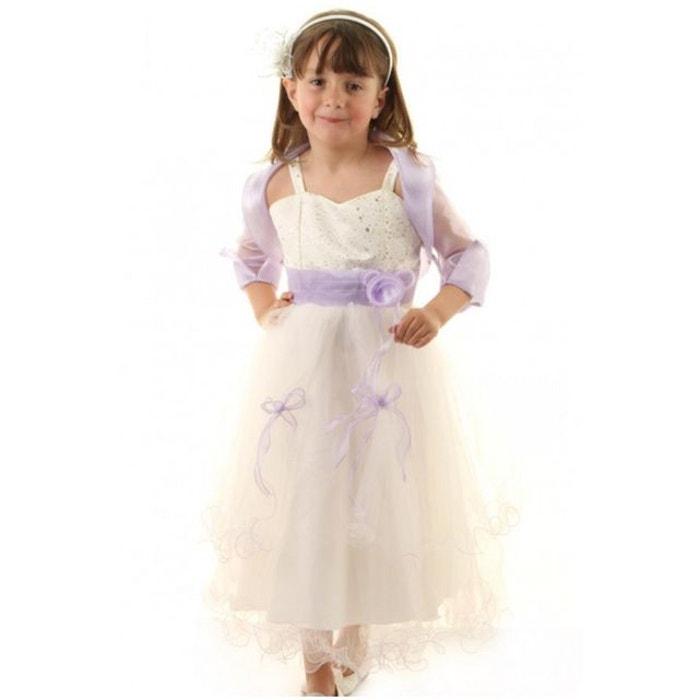 Robe de mariage fille bol ro fleur noeud coloris ivoire et for Nettoyage de robe de mariage milwaukee