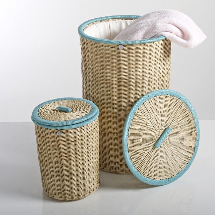Image Set of 2 KOK Ozier Lidded Rattan Baskets La Redoute Interieurs