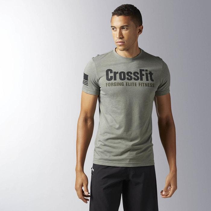 T shirt reebok crossfit forging elite fitness vert reebok for La fitness t shirt