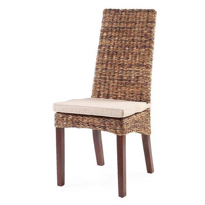chaise lavezzi en rotin abaca brun rotin design la redoute. Black Bedroom Furniture Sets. Home Design Ideas