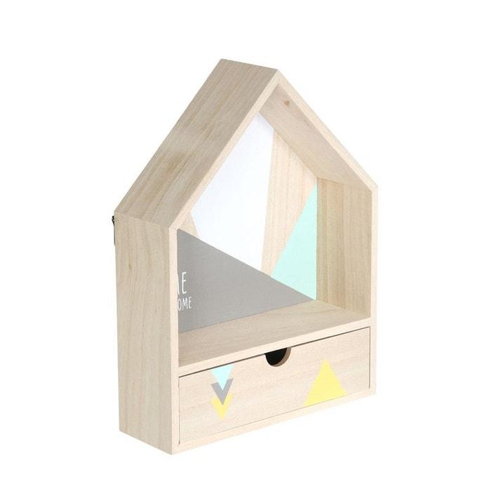 tag re maison avec tiroir vert bois clair decoratie la. Black Bedroom Furniture Sets. Home Design Ideas