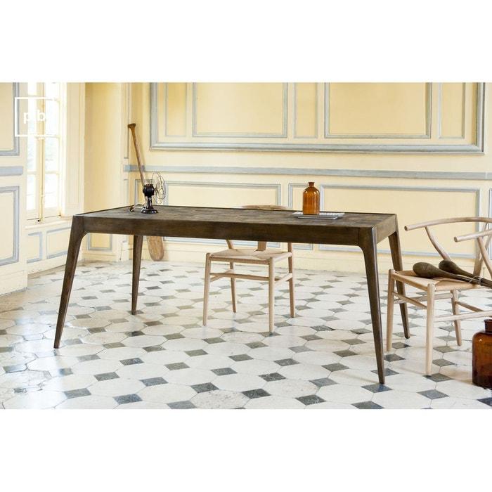 table en bois tab to bois fonce produit interieur brut la redoute. Black Bedroom Furniture Sets. Home Design Ideas