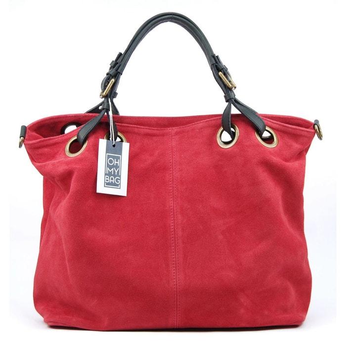 1ba2067cd1 Sac à main cabas cuir nubuck opéra Oh My Bag | La Redoute