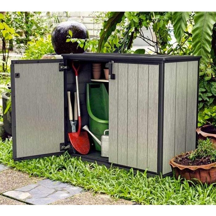 Armoire de jardin basse en résine brossium 1000 l - keter couleur ...