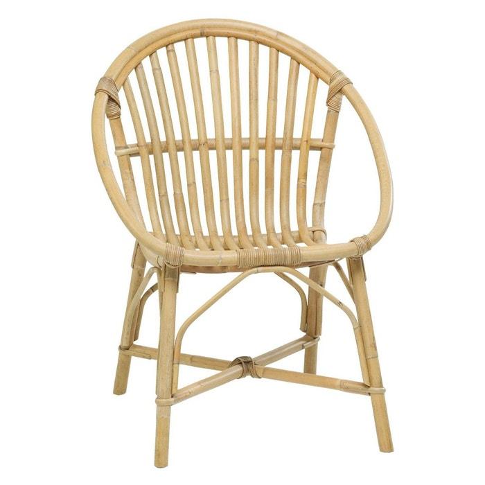 fauteuil en rotin bruno beige kok | la redoute
