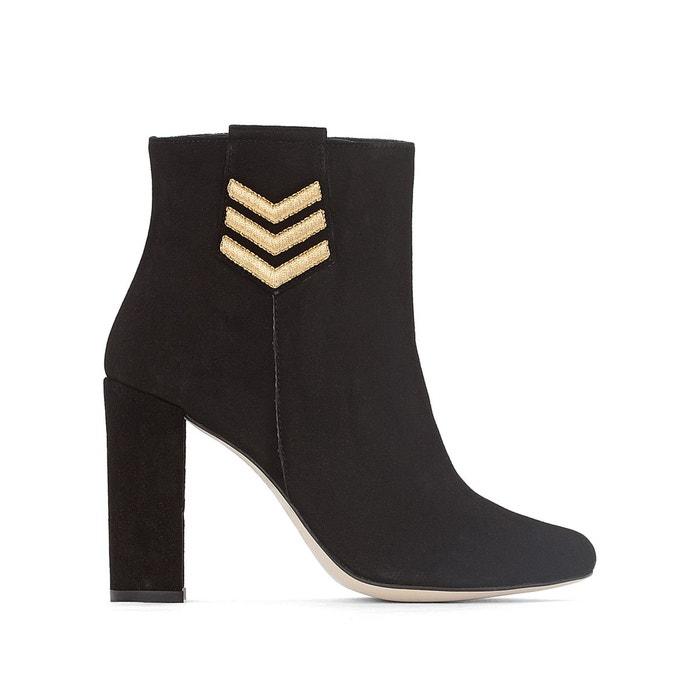 Boots cuir noir Jonak Vente Explorer lJPpkB