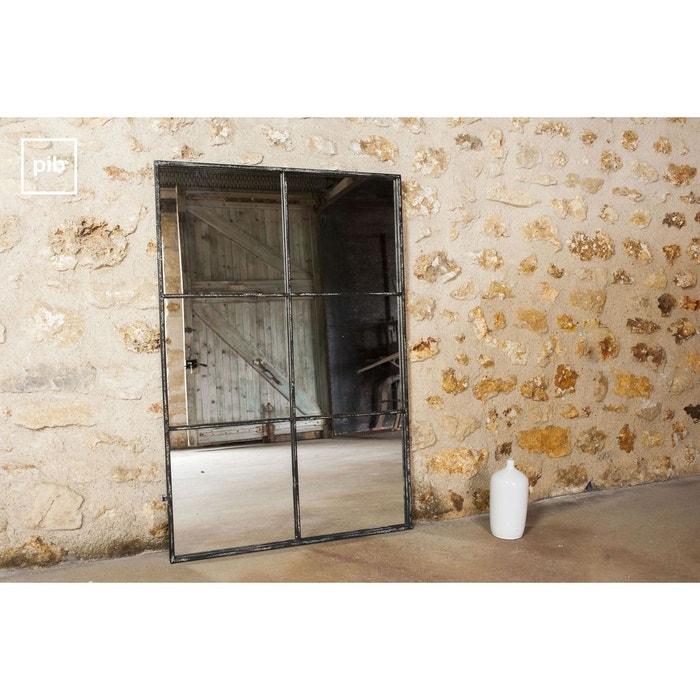 miroir industriel 6 sections noir produit interieur brut la redoute. Black Bedroom Furniture Sets. Home Design Ideas
