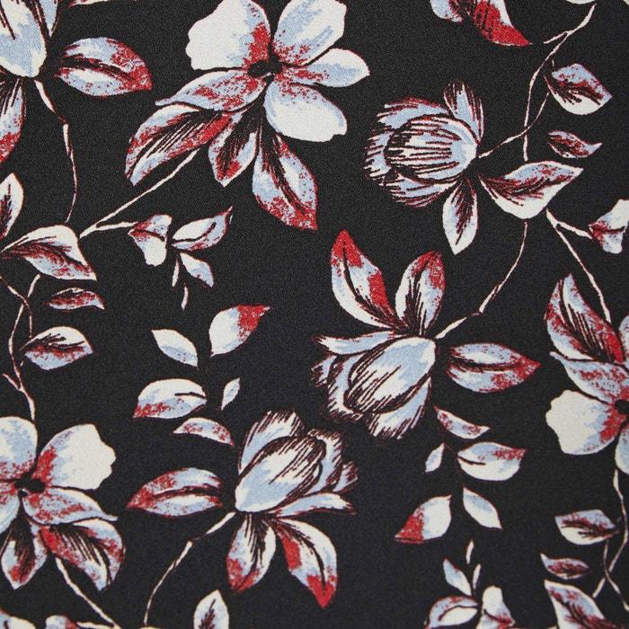corto larga estampado flores recto MORGAN Vestido manga de FSq8ESvnw