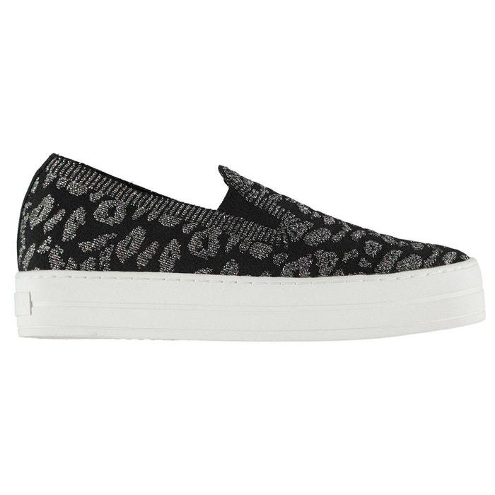 Chaussures en toile tricot noir multi Skechers