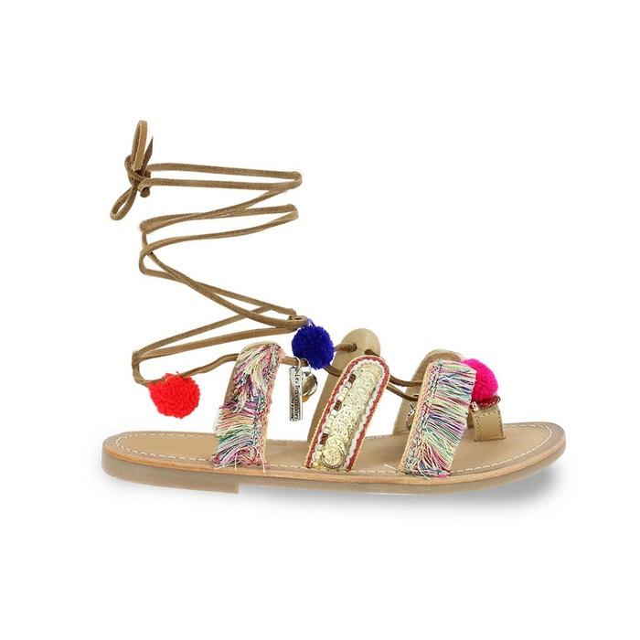 sandales cuir plates orea multicolore les tropeziennes par m belarbi la redoute. Black Bedroom Furniture Sets. Home Design Ideas