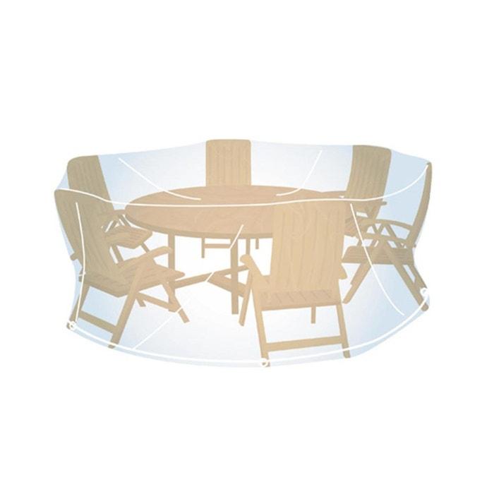 Housse de protection transparente pour salon de jardin rond 185 cm couleur unique campingaz - Housse de protection salon de jardin teck ...