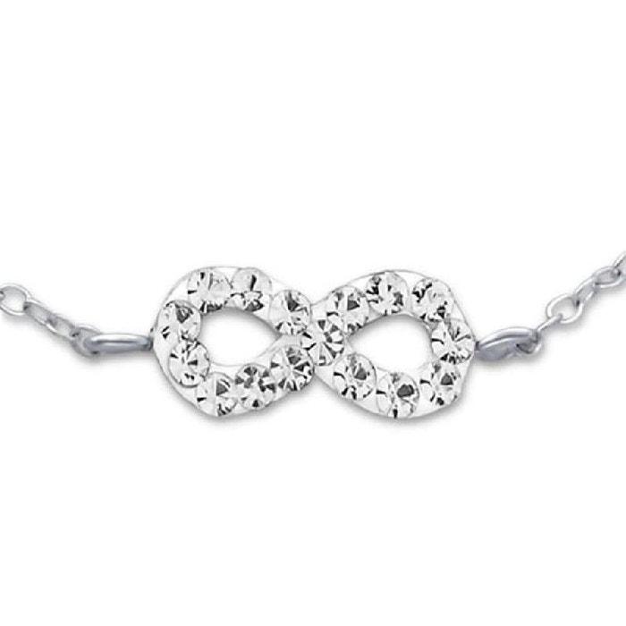 Bracelet chaîne 16 cm symbole infini blanc argent 925 So Chic Bijoux   La  Redoute 5881e5e948e1