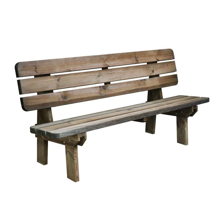 banc bois 4pl rambouillet bois clair cemonjardin la redoute. Black Bedroom Furniture Sets. Home Design Ideas