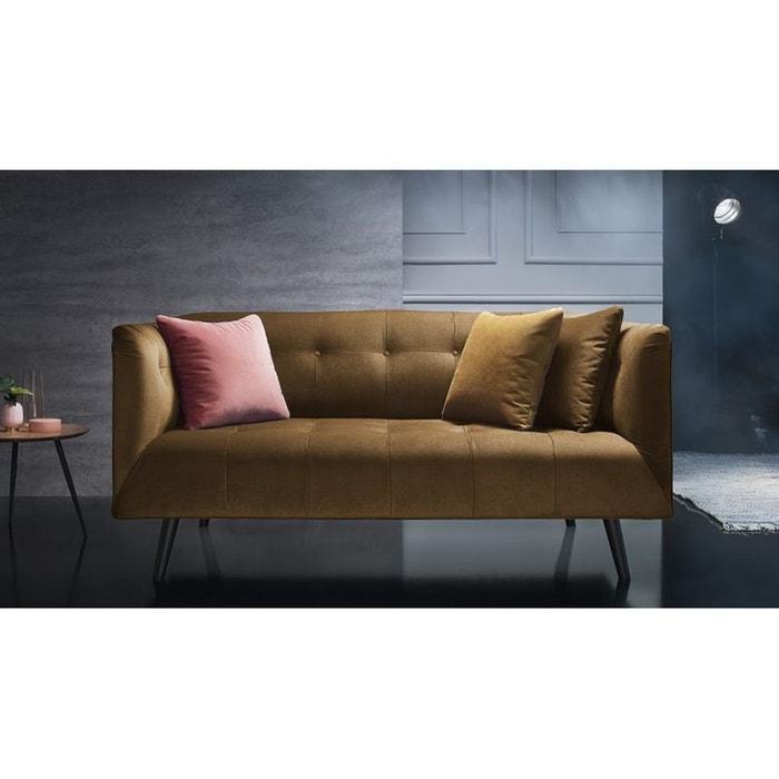 canape 3 places fixe paris jaune moutarde moutarde bobochic la redoute. Black Bedroom Furniture Sets. Home Design Ideas