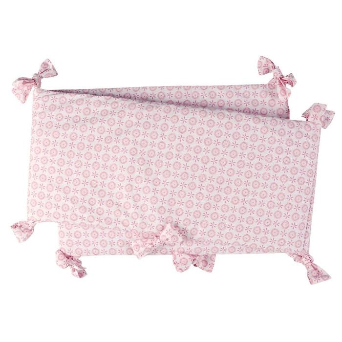 Tour de lit en coton rose Lovely Emilie
