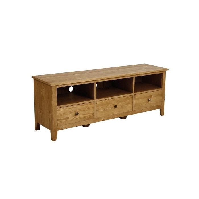 meuble bas tv hifi marron interior s la redoute. Black Bedroom Furniture Sets. Home Design Ideas