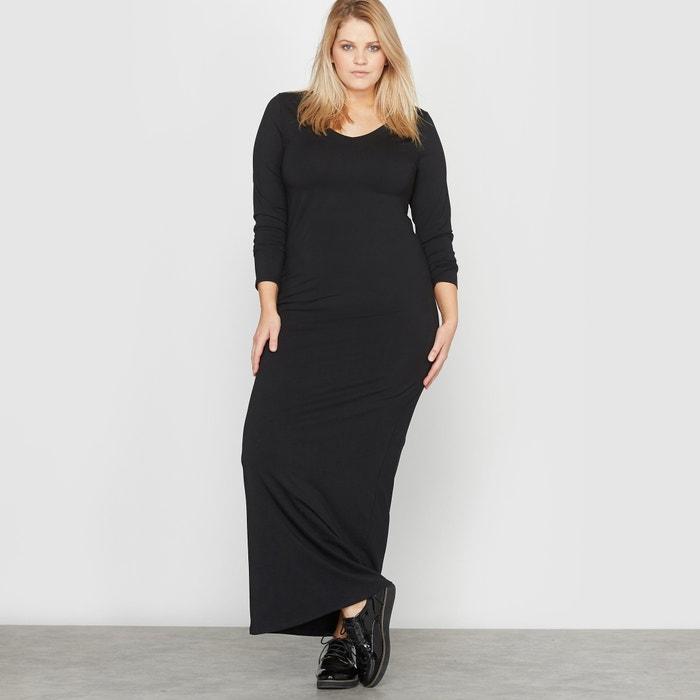 afbeelding Lange jurk met lange mouwen in tricot CASTALUNA