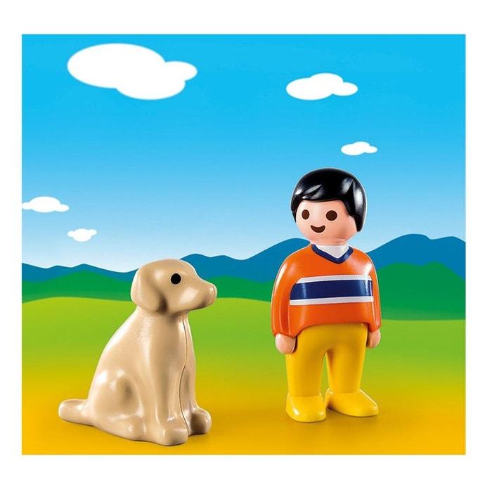 Playmobil 9256 1 2 3 gar on avec chien couleur unique playmobil la redoute - La redoute playmobil ...