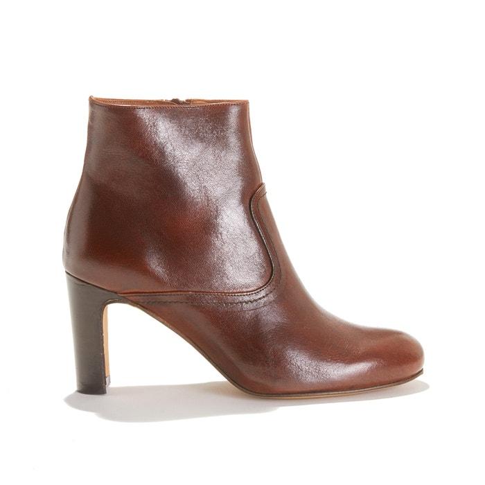 talon haut à cuir Boots en ODYSSEE lisse 80PnwOXk